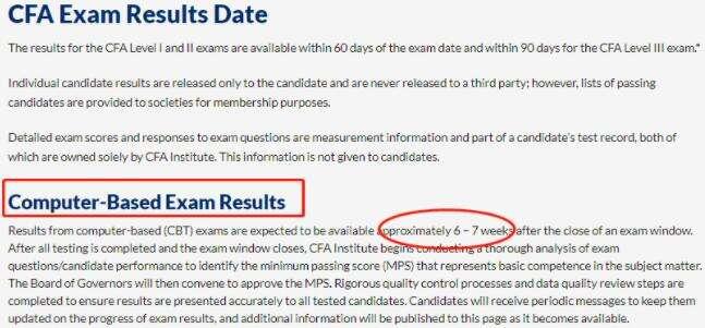 2月CFA机考成绩即将公布?解答来了!